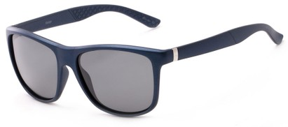 Angle of Revere #3946 in Blue Frame with Grey Lenses, Men's Retro Square Sunglasses