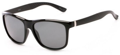 Angle of Revere #3946 in Black Frame with Grey Lenses, Men's Retro Square Sunglasses
