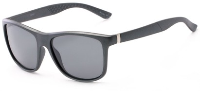 Angle of Revere #3946 in Grey Frame with Grey Lenses, Men's Retro Square Sunglasses