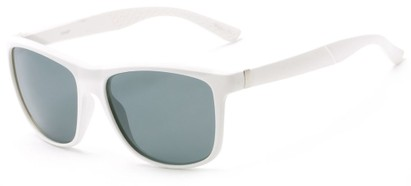 Angle of Revere #3946 in White Frame with Grey Lenses, Men's Retro Square Sunglasses