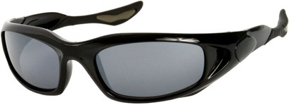 Angle of SW Sport Style #1307 in Black Frame, Women's and Men's
