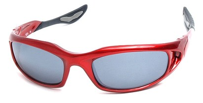 Angle of SW Sport Style #1307 in Red Frame, Women's and Men's