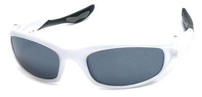 Angle of SW Sport Style #1307 in White Frame, Women's and Men's