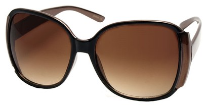 Angle of SW Oversized Round Style #3996 in Bronze Frame, Women's and Men's