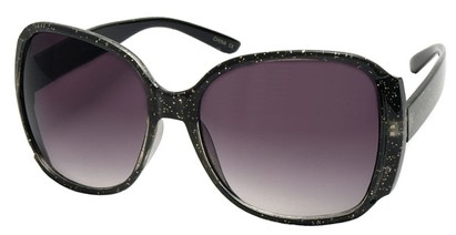 Angle of SW Oversized Round Style #3996 in Black Sparkle Frame, Women's and Men's