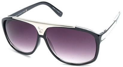 Angle of SW Retro Style #15020 in Black Frame, Women's and Men's