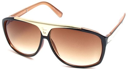 Angle of SW Retro Style #15020 in Brown Frame, Women's and Men's
