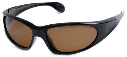 Angle of SW Polarized Sport Style #540150 in Glossy Black with Amber, Women's and Men's