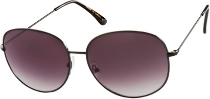 Angle of Kalahari #8872 in Black Frame with Dark Smoke Lenses, Women's and Men's Round Sunglasses