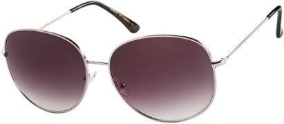 Angle of Kalahari #8872 in Silver Frame with Smoke Lenses, Women's and Men's Round Sunglasses