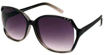 Angle of Echo #1022 in Black and Grey Fade Frame, Women's Square Sunglasses
