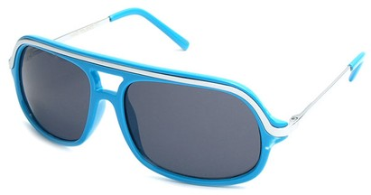 Angle of SW Aviator Style #4115 in Electric Blue Frame, Women's and Men's