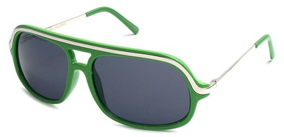 Angle of SW Aviator Style #4115 in Grassy Green Frame, Women's and Men's