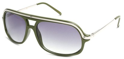 Angle of SW Aviator Style #4115 in Olive Green Frame, Women's and Men's