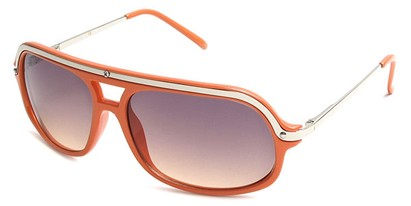 Angle of SW Aviator Style #4115 in Orange Rust Frame, Women's and Men's