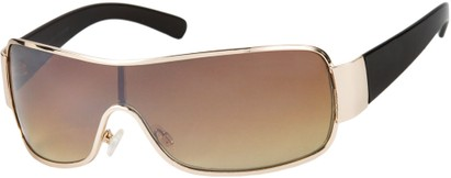 Angle of Elko #1705 in Gold and Brown Frame, Women's and Men's Square Sunglasses