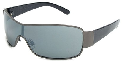 Angle of Elko #1705 in Grey and Black Frame, Women's and Men's Square Sunglasses