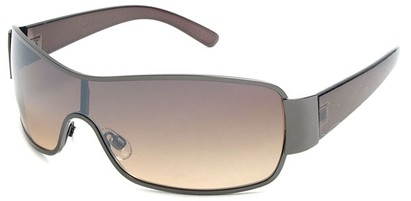 Angle of Elko #1705 in Bronze Brown and Grey Frame, Women's and Men's Square Sunglasses