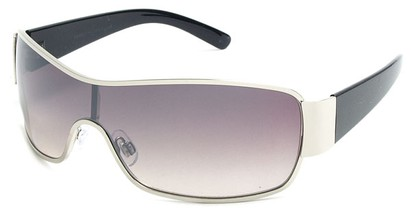 Angle of Elko #1705 in Silver and Black Frame, Women's and Men's Square Sunglasses