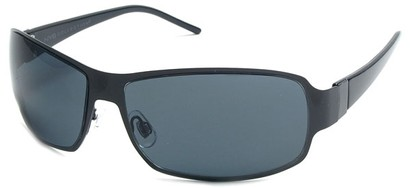 Angle of Himalaya #9718 in Black Frame with Grey Lenses, Women's and Men's Square Sunglasses
