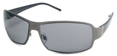 Angle of Himalaya #9718 in Grey and Black Frame with Grey Lenses, Women's and Men's Square Sunglasses