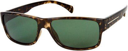 Angle of Barens #7580 in Brown Tortoise with Green, Men's Square Sunglasses