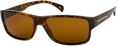 Angle of Barens #7580 in Brown Tortoise with Amber, Men's Square Sunglasses