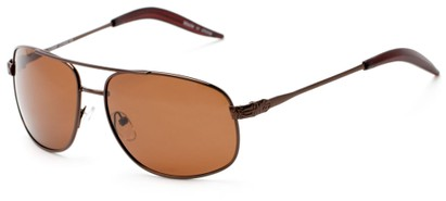 Angle of Bern #4289 in Bronze Frame with Amber Lenses, Men's Aviator Sunglasses