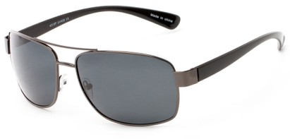 Angle of Ortiz #4313 in Grey and Black Frame with Grey Lenses, Men's Aviator Sunglasses