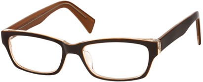 Angle of SW Clear Style #1407 in Brown/Orange Frame, Women's and Men's