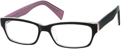 Angle of SW Clear Style #1407 in Blue/Purple Frame, Women's and Men's