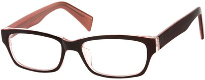Angle of SW Clear Style #1407 in Red/Pink Frame, Women's and Men's
