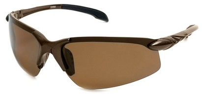 Angle of SW Polarized Sport Style #1194 in Brown Frame with Amber Lenses, Women's and Men's
