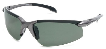 Angle of SW Polarized Sport Style #1194 in Silver Frame with Green Lenses, Women's and Men's