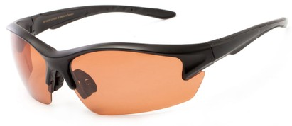Angle of Moosehead #4619 in Matte Black Frame with Copper Lenses, Men's Sport & Wrap-Around Sunglasses