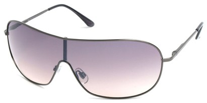 Angle of SW Shield Style #46 in Grey Frame with Rose Lenses, Women's and Men's