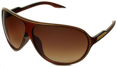 Angle of SW Kid's Celebrity Style #1353 in Brown and Gold Frame, Women's and Men's