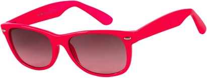 Angle of SW Neon Retro Style #1610 in Neon Pink Frame, Women's and Men's