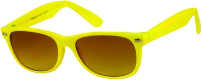 Angle of SW Neon Retro Style #1610 in Neon Yellow Frame, Women's and Men's