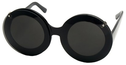 Angle of SW Celebrity Style #513 in Black Frame with Smoke Lenses, Women's and Men's
