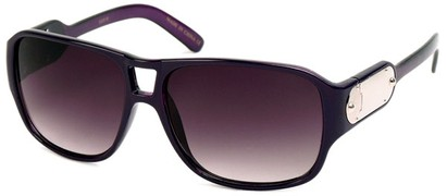 Angle of SW Retro Aviator Style #8195 in Grey and Pink Frame, Women's and Men's