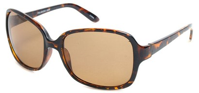 Angle of SW Polarized Style #497 in Tortoise Frame, Women's and Men's