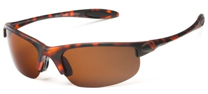 Angle of Ascender #8118 in Matte Tortoise Frame with Brown Lenses, Women's and Men's Sport & Wrap-Around Sunglasses