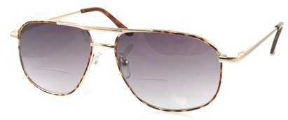 Angle of Flight #9952 in Gold Frame, Women's and Men's Aviator Reading Sunglasses