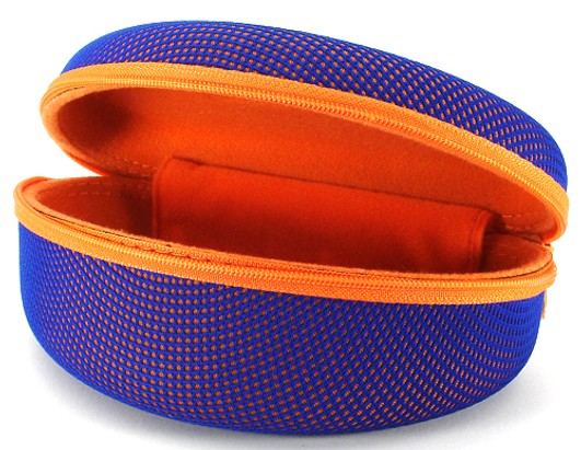 Angle of Mesh Dome Blue and Orange Case #647 in Blue and Orange Case, Women's and Men's