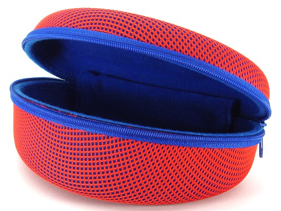 Angle of Mesh Dome Red and Blue Case #647 in Red and Blue Case, Women's and Men's