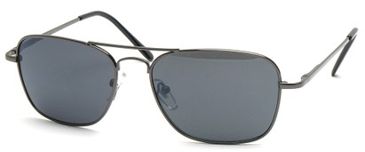 Angle of SW Aviator Style #1609 in Gray Frame, Women's and Men's