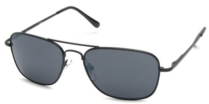 Angle of SW Aviator Style #1609 in Black Frame, Women's and Men's