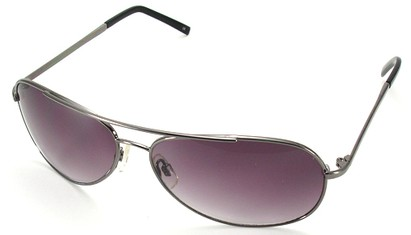 Angle of SW Aviator Style #15036 in Grey Frame with Rose Lenses, Women's and Men's
