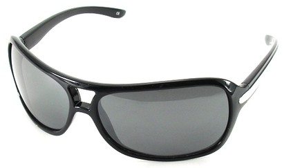 Angle of SW Aviator Style #501 in Black Frame, Women's and Men's
